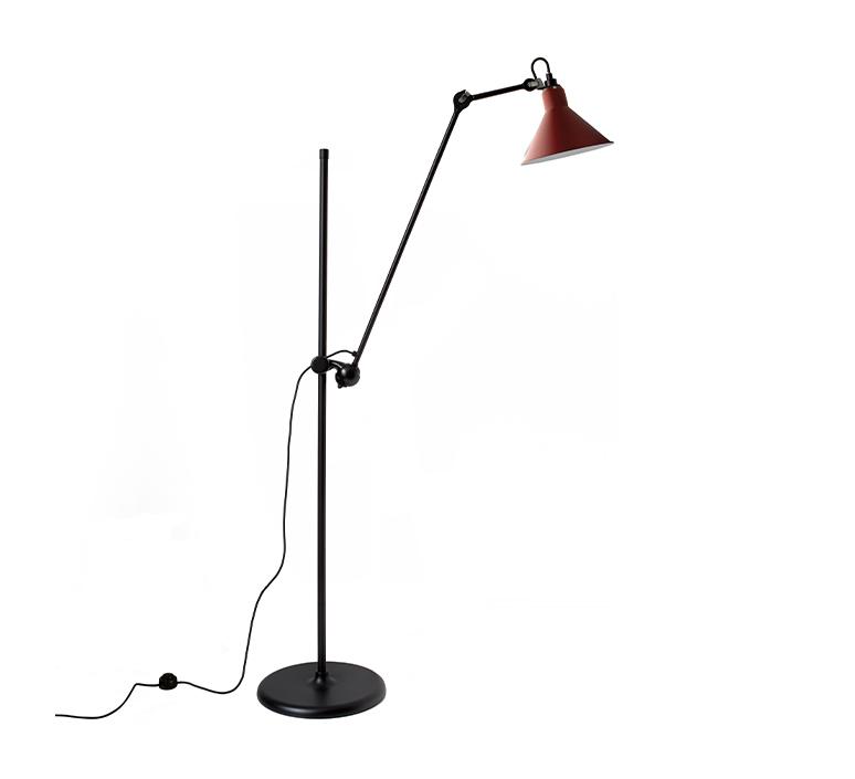 Lampe gras n 215 bernard albin gras lampadaire floor light  dcw n 215 bl red conic  design signed nedgis 105811 product