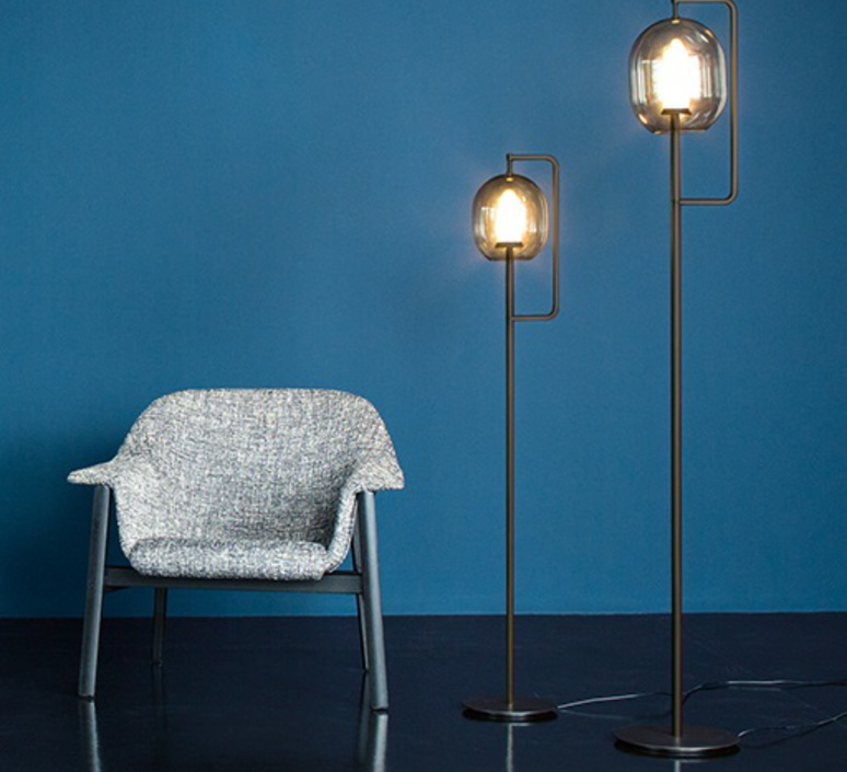 Lantern light neri et hu lampadaire floor light  classicon lantern light floor lamp burnished brass  design signed 49851 product