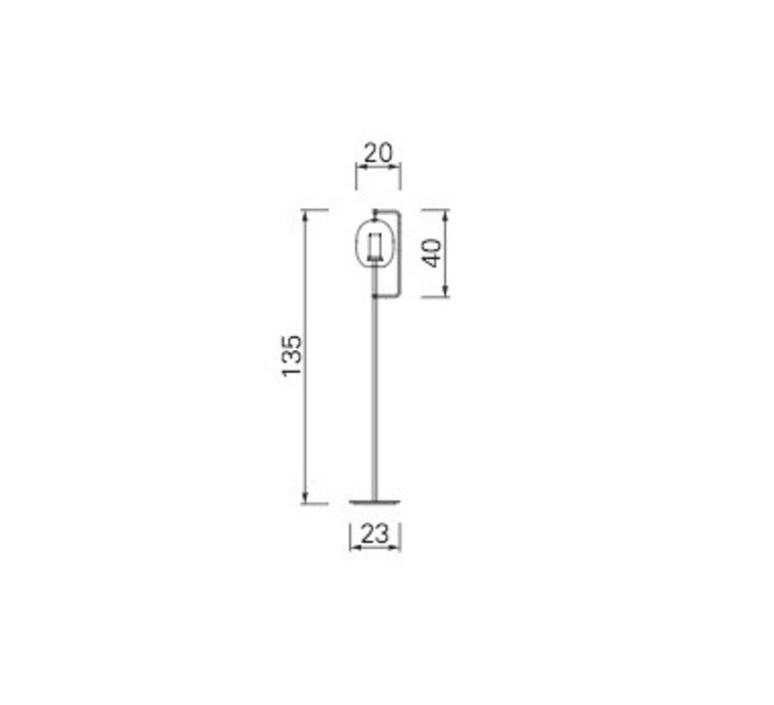 Lantern light neri et hu lampadaire floor light  classicon lantern light floor lamp burnished brass  design signed 49854 product