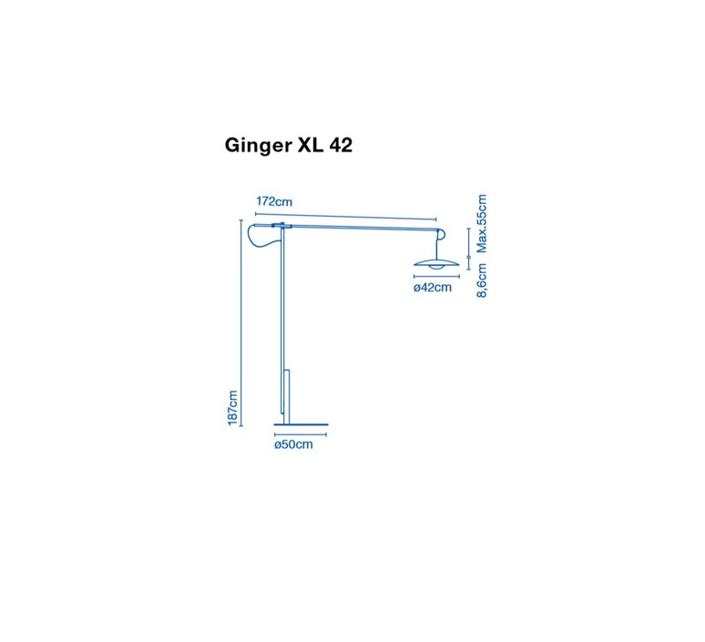 Ginger xl 42 joan gaspar marset a662 070 luminaire lighting design signed 20529 product