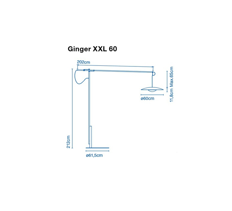 Ginger xxl 60 joan gaspar marset a662 073 luminaire lighting design signed 20523 product