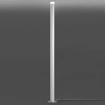 Lampadaire led pole argent 3000k 3500 lm o22cm h190cm alma light normal