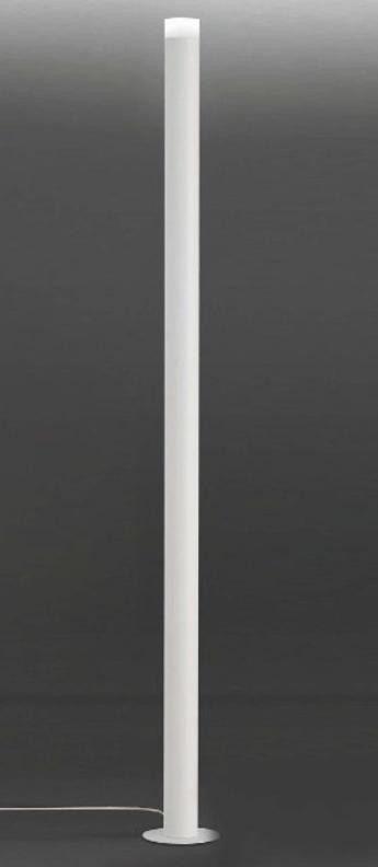 Lampadaire led pole blanc 3000k 3500 lm o22cm h190cm alma light normal