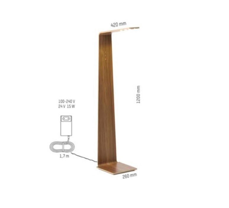 Led2 mikko karkkainen tunto led2 walnut walnut luminaire lighting design signed 12210 product