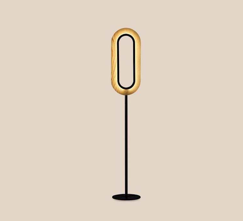 Lens oval mut design lampadaire floor light  lzf lens ov p bk led 22  design signed nedgis 76784 product