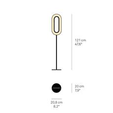 Lens oval mut design lampadaire floor light  lzf lens ov p bk led 22  design signed nedgis 76801 thumb