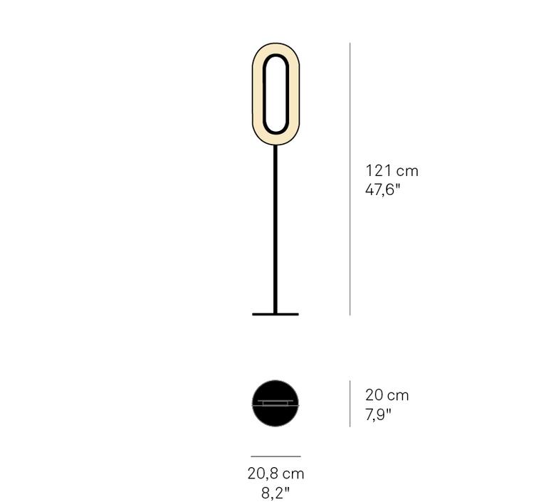 Lens oval mut design lampadaire floor light  lzf lens ov p bk led 20  design signed nedgis 76767 product