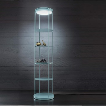 Lampadaire level bleu h178cm led zava normal