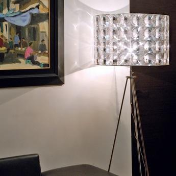 Lampadaire lighthouse transparent chrome h160cm innermost normal