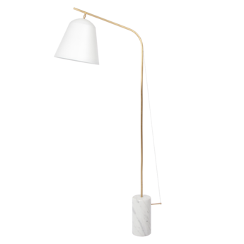 Lampadaire line two blanc l95cm h186cm norr11 normal