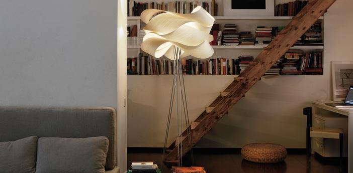 Lampadaire link blanc ivoire variateur h217cm o69cm lzf normal