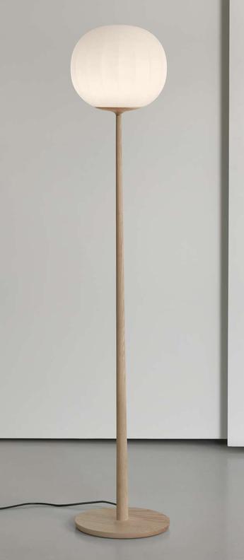 Lampadaire lita bois blanc o30cm h160cm luceplan normal