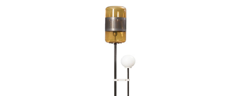 Lampadaire lizak laiton ambre o26 5cm h158 3cm bert frank normal