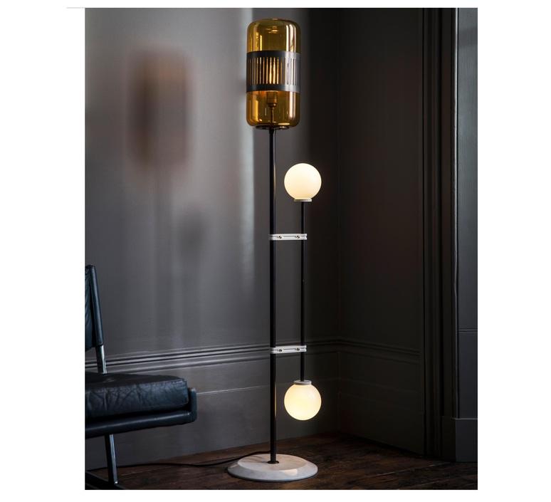 Lizak robbie llewellyn et adam yeats lampadaire floor light  bert frank lizak fl amber  design signed nedgis 75356 product