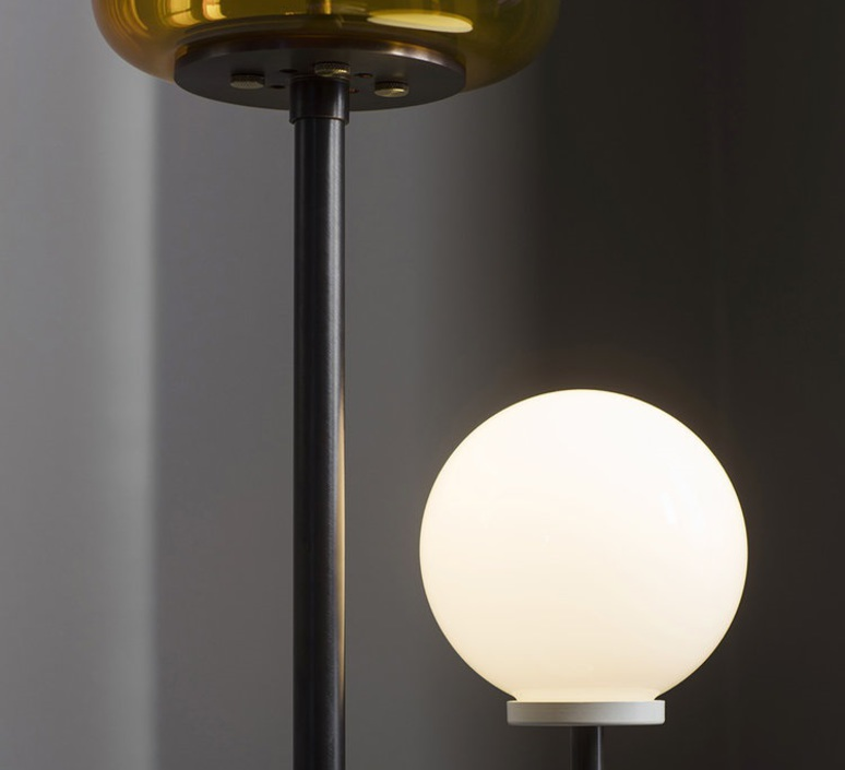 Lizak robbie llewellyn et adam yeats lampadaire floor light  bert frank lizak fl amber  design signed nedgis 75358 product