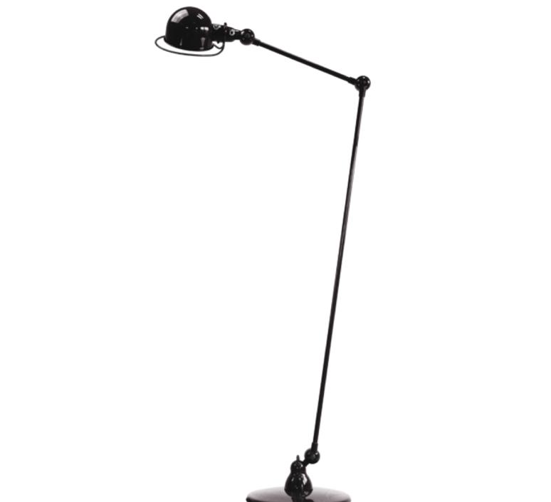 Loft 2 bras jean louis domecq lampadaire floor light  jielde d1240 ral9011  design signed 36015 product