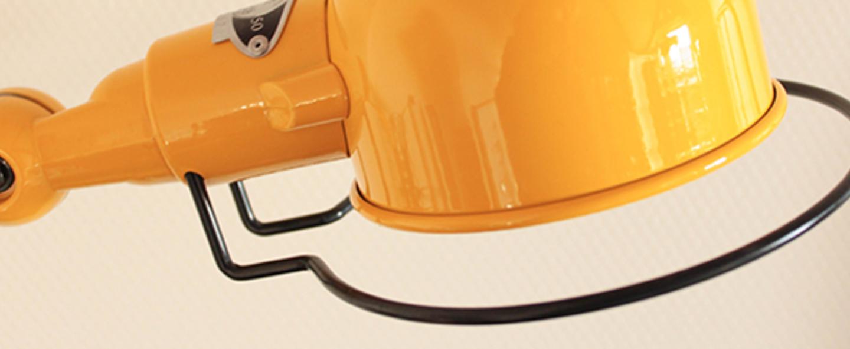Lampadaire loft 6 bras moutarde o33cm h240cm jielde normal