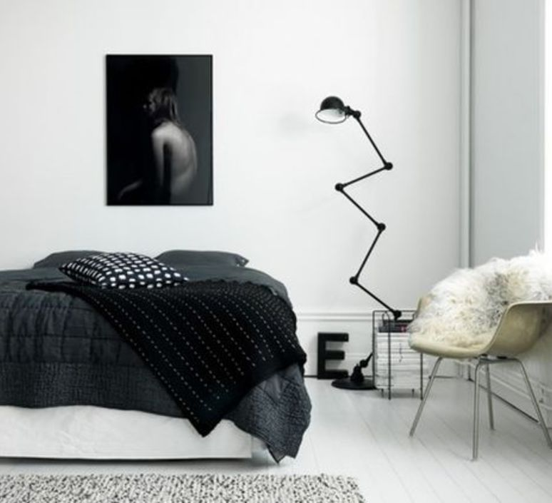 Loft 6 bras jean louis domecq lampadaire floor light  jielde d9406 ral9011  design signed 35815 product