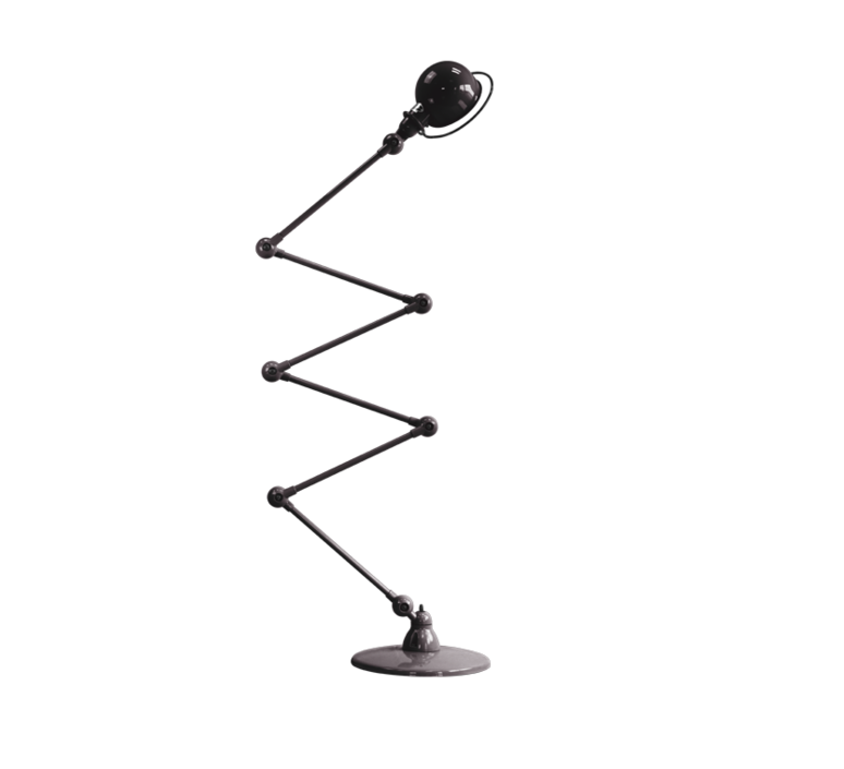 Loft 6 bras jean louis domecq lampadaire floor light  jielde d9406 ral9011  design signed 35817 product