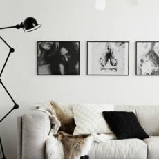 Loft 6 bras jean louis domecq lampadaire floor light  jielde d9406 ral9011  design signed 35818 thumb
