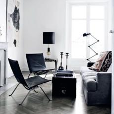Loft 6 bras jean louis domecq lampadaire floor light  jielde d9406 ral9011  design signed 35820 thumb