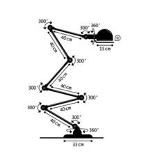 Loft 6 bras jean louis domecq lampadaire floor light  jielde d9406 ral9011  design signed 35823 thumb