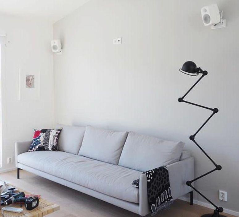 Loft 6 bras jean louis domecq lampadaire floor light  jielde d9406 ral9011  design signed 54177 product