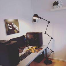 Loft 6 bras jean louis domecq lampadaire floor light  jielde d9406 ral9011  design signed 54178 thumb