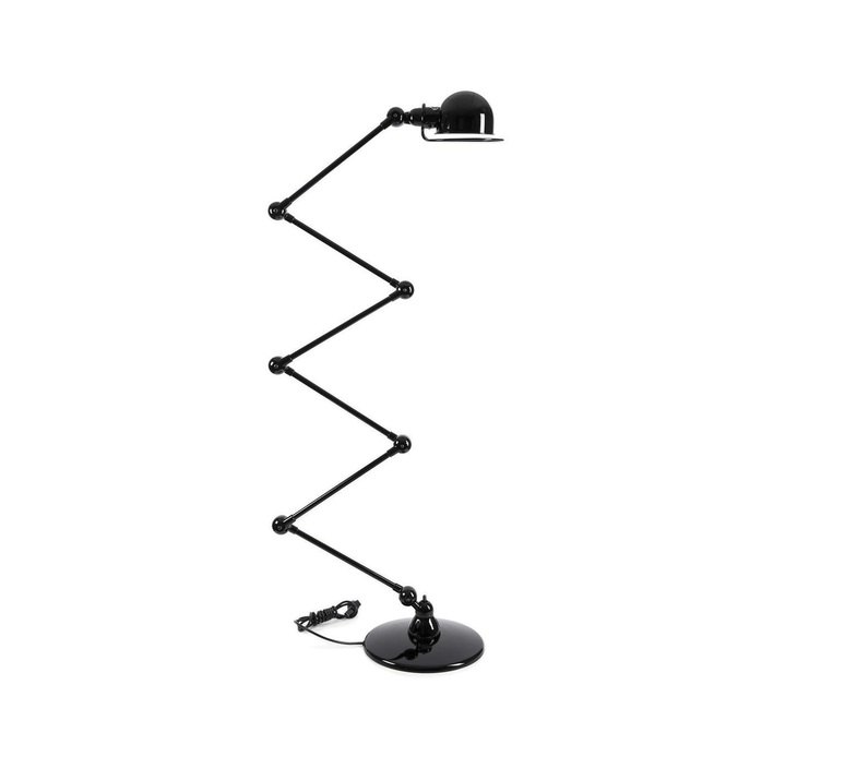 Loft 6 bras jean louis domecq lampadaire floor light  jielde d9406 ral9011  design signed 54181 product