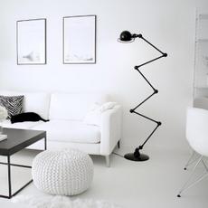 Loft 6 bras jean louis domecq lampadaire floor light  jielde d9406 ral9011  design signed 54184 thumb