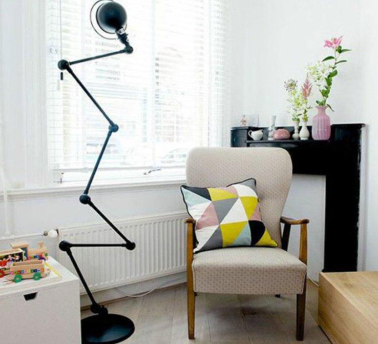 Loft 6 bras jean louis domecq lampadaire floor light  jielde d9406 ral9011  design signed 54186 product