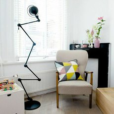Loft 6 bras jean louis domecq lampadaire floor light  jielde d9406 ral9011  design signed 54186 thumb