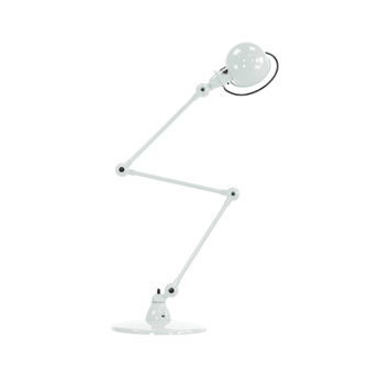 Lampadaire loft blanc l240cm h150cm jielde loft d9403 blc normal