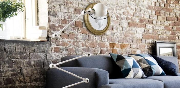 Lampadaire loft blanc l240cm h150cm jielde normal