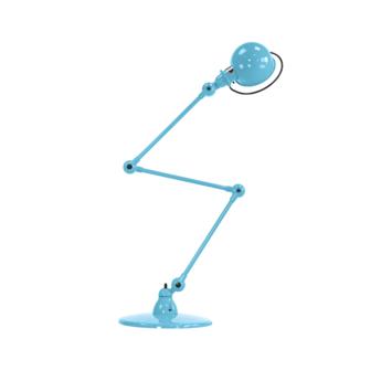 Lampadaire loft bleu pastel l240cm h150cm jielde loft d9403 ral 5024 normal