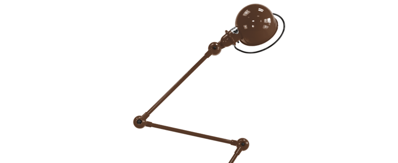 Lampadaire loft chocolat l240cm h150cm jielde loft d9403 ral 8017 normal