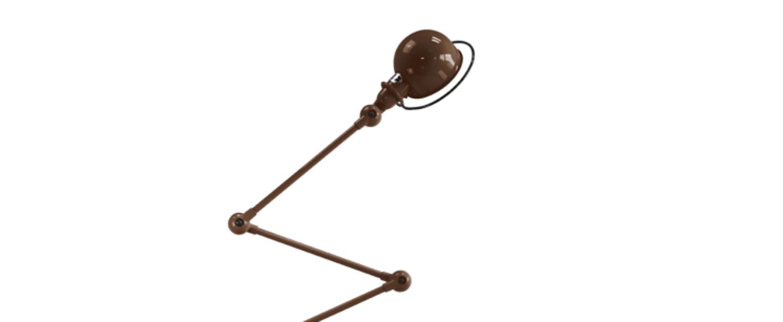 Lampadaire loft chocolat l240cm h150cm jielde normal