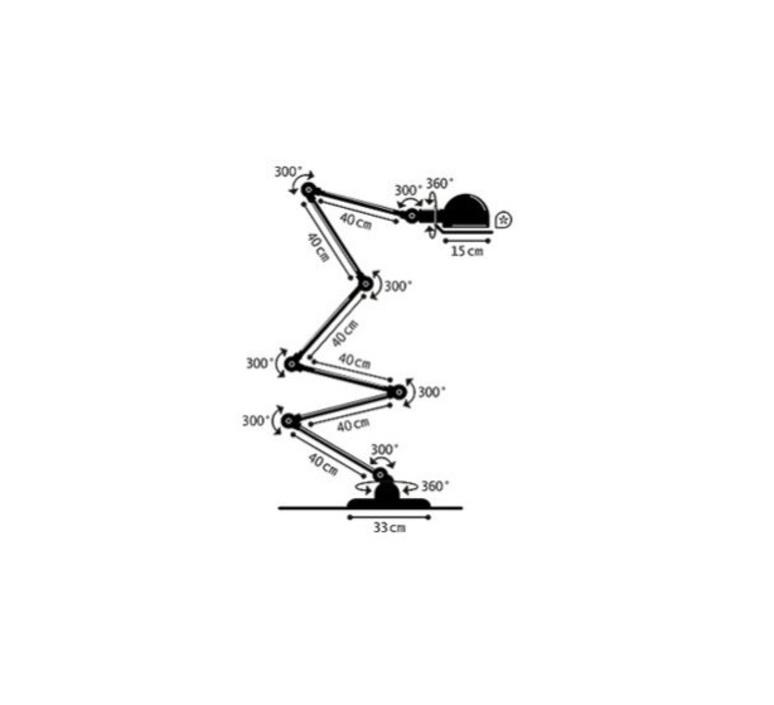 Loft  lampadaire floor light  jielde loft d9406 ral 3020  design signed 60151 product