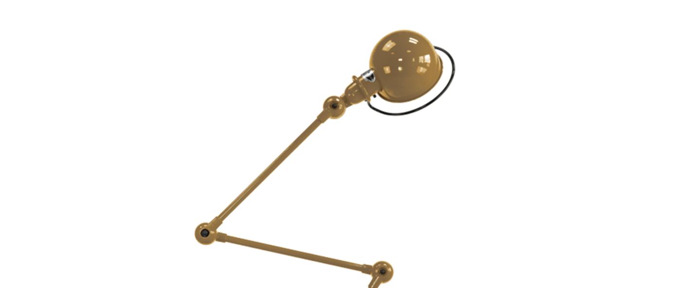 Lampadaire loft or l120cm h90cm jielde normal