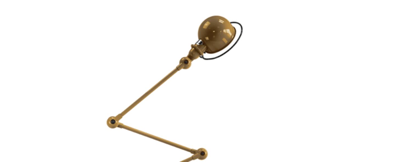 Lampadaire loft or l240cm h150cm jielde normal