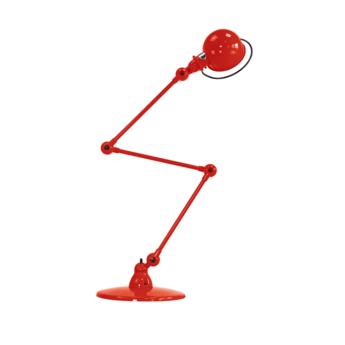 Lampadaire loft rouge l240cm h150cm jielde loft d9403 ral 3020 normal
