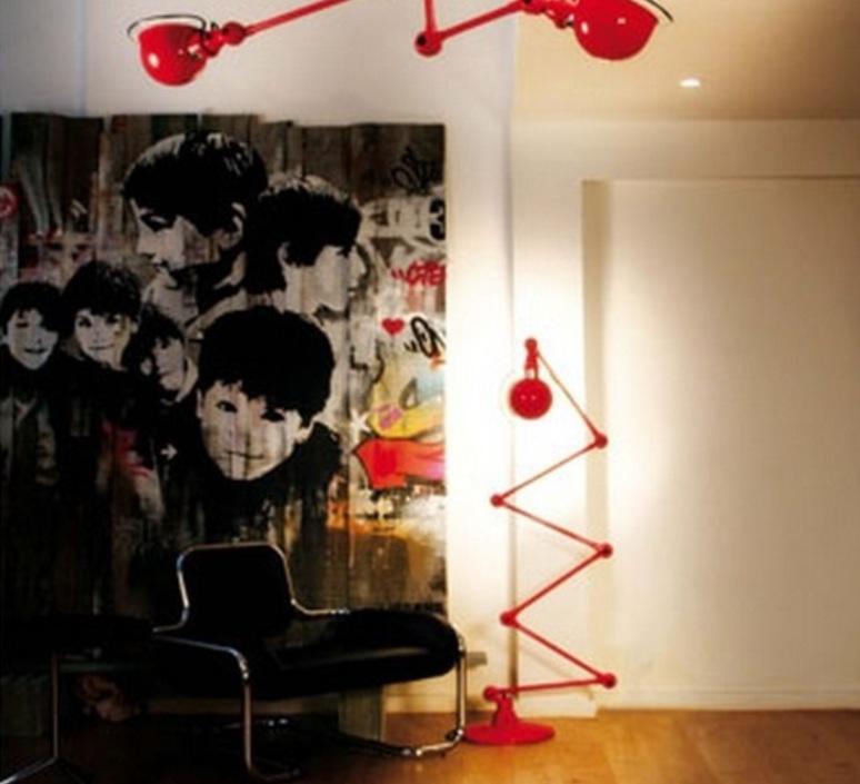 Loft  lampadaire floor light  jielde loft d9406 ral 3020  design signed 54469 product