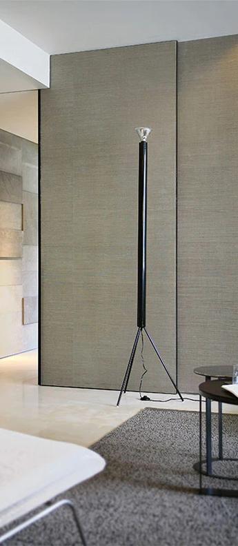Lampadaire luminator anthracite o60cm h189cm flos normal
