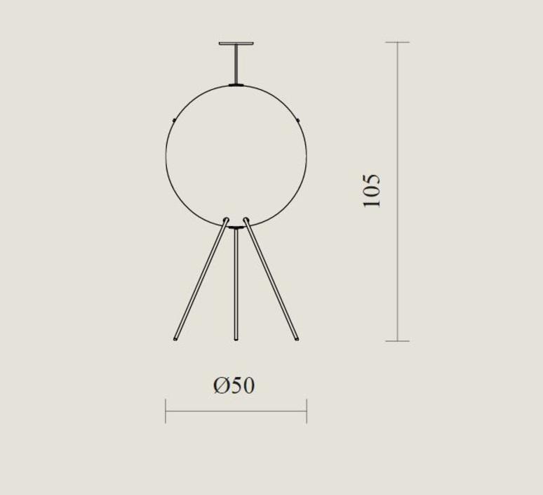 Luna gio ponti lampadaire floor light  tato italia tlu410 0565  design signed nedgis 63004 product