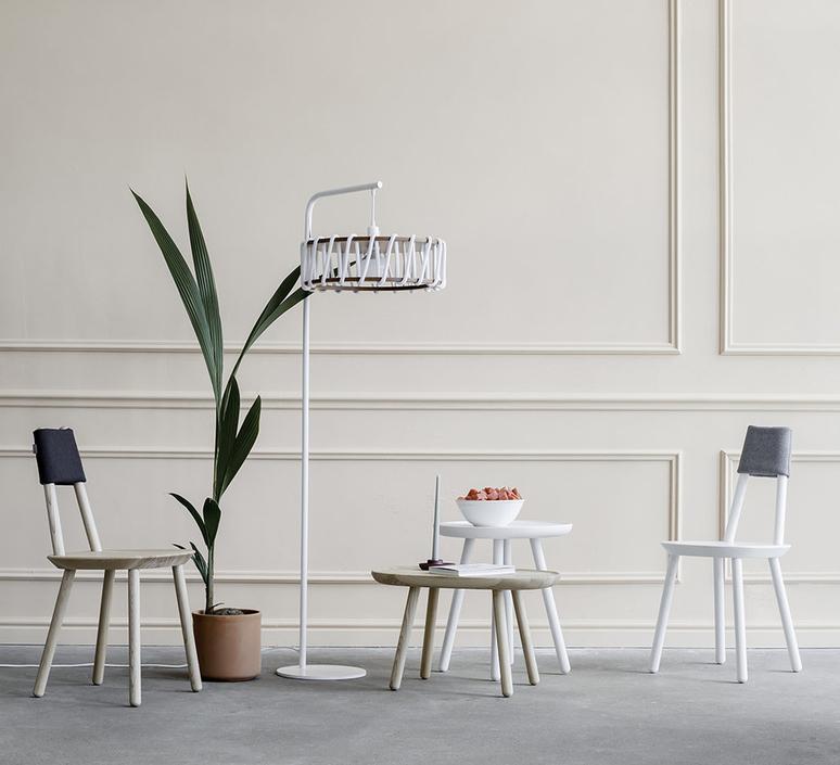 Macaron l blanc et blanc silvia cenal lampadaire floor light  emko wmcf45white  design signed nedgis 72294 product