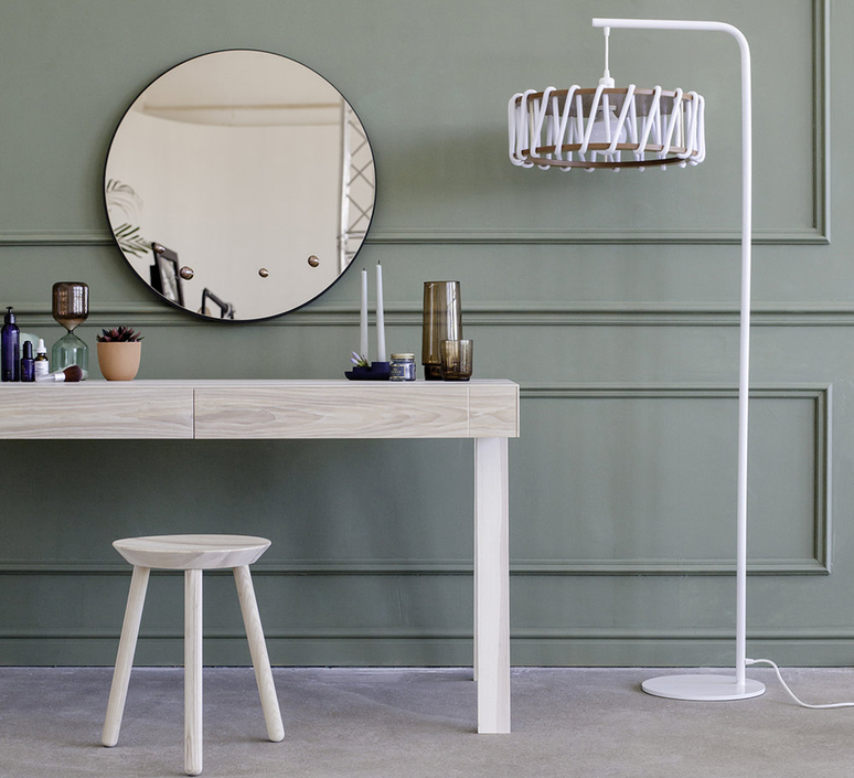 Macaron l blanc et blanc silvia cenal lampadaire floor light  emko wmcf45white  design signed nedgis 72295 product