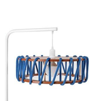 Lampadaire macaron l bleu et noir bleu l45cm h163cm emko normal