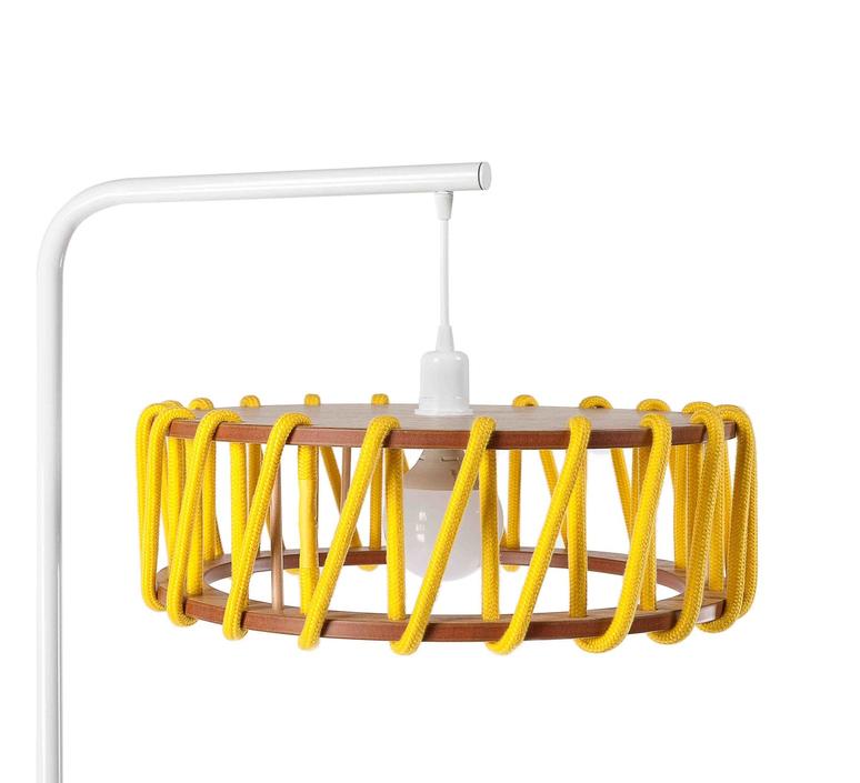 Macaron l jaune et blanc silvia cenal lampadaire floor light  emko wmcf45yellow  design signed nedgis 72289 product