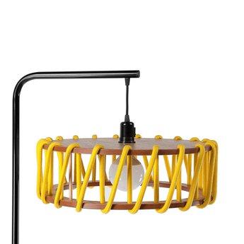 Lampadaire macaron l jaune et noir jaune l45cm h163cm emko normal