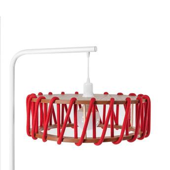 Lampadaire macaron l rouge et blanc rouge l45cm h163cm emko normal
